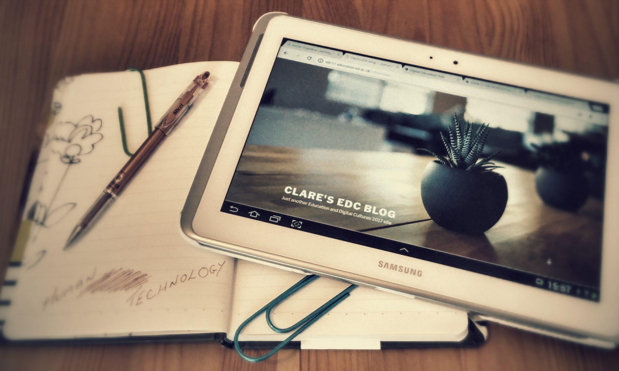 Clare's EDC blog